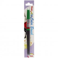 Pentel Color Brush Ricaricabile con punta a pennello- Acquarello Verde
