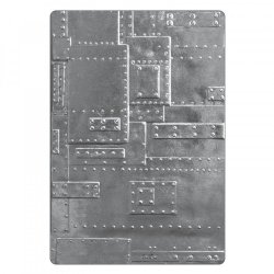 Sizzix 3-D Texture Fades Embossing Folder - Foundry 662717