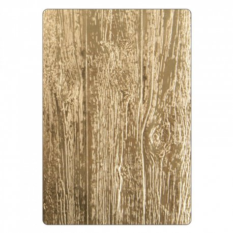 Sizzix 3-D Texture Fades Embossing Folder - Lumber 662718