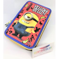 Astuccio Tre Cerniere Minions - Keep Calm and Potakino Lo Patata
