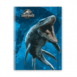 Cartellina portadocumenti Jurassic World - Blu