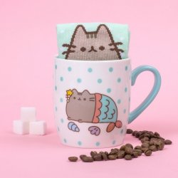 Tazza da tè e calze Pusheen - Mermaid - PUSHSMMER