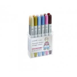 "COPIC Ciao Starter Set da 12 ""colori vintage"" 22075703"