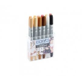 "COPIC Ciao Starter Set da 12 ""toni di pelle"" 22075705"