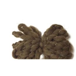 Gomitolo Lana non filata da 200 gr. Marrone - 95LANA01-046