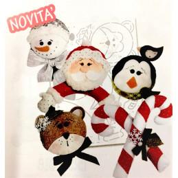 Cartamodello Stencil Personaggi di Natale CRSTE-024