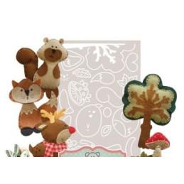 Cartamodello Stancil - La renna e i suoi amici - CRSTE-011