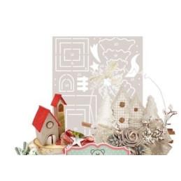Cartamodello Stancil - Il villaggio del Natale - CRSTE-013