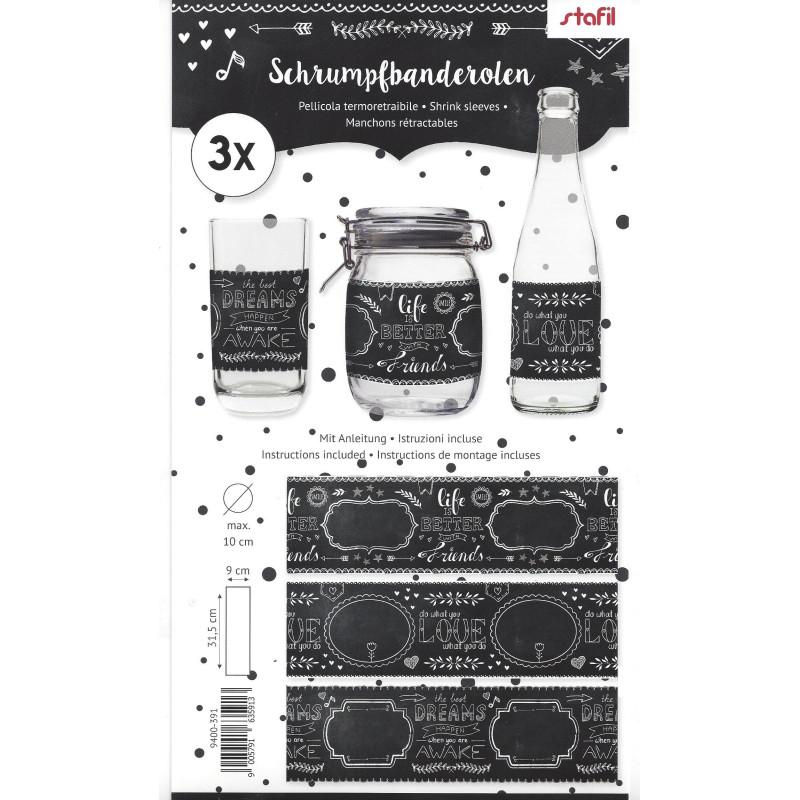 Pellicola termoretraibile 3x - Bianco e nero 391