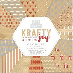 "Carta blocco scrap - Krafty Joy - PAPAD029X18 - 15x15cm (6""x 6"")"