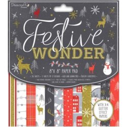 "Carta blocco Scrap - Festive Wonder - DCPAP097X18 30x30 cm (12""x 12"")"