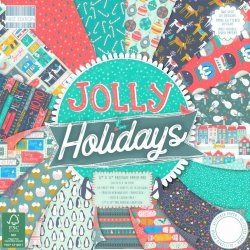"Carte blocco scrap - Jolly Holidays - FEPAD182X18 30x30cm (12""x12"")"
