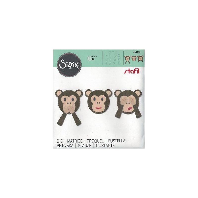 fustella Bigz Emoji Monkey 663487