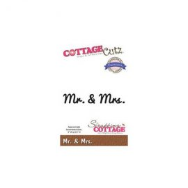CottageCutz fustella per cerimonia Mr. & Mrs. CCX-054