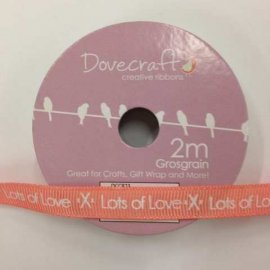 Creative Ribbon Rocchetto di Nastro 2m, Lots of Love 2