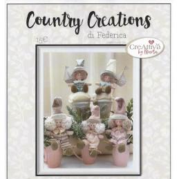 Cartamodello Federica Country Creations Creattiva - Bimbe su tazza - P1910